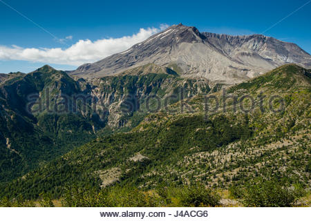 Mount St. Helens crater, Mount St. Helens National Volcanic Monument, Gifford Pinchot National Forest, Skamania - Stock Photo