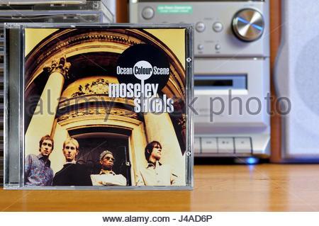 Ocean Colour Scene 1996 2nd album Moseley Shoals, album CD cover, Dorset, England - Stock Photo