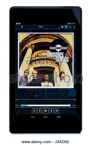 Ocean Colour Scene 1996 2nd album Moseley Shoals, MP3 album cover, Dorset, England - Stock Photo