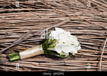 luxury Wedding bouquet. The concept of marriage and love. accessories for just married ceremony close-up. Fresh - Stock Photo