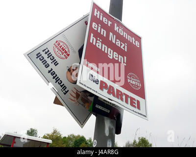 Germany, Dortmund, May15th.2017. Poster of the party DIE PARTEI (the party) of the satirical and co-editor of the - Stock Photo