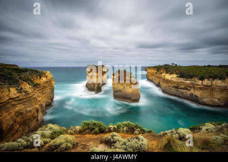 Loch Ard Gorge along the famous Great Ocean Road in Victoria, Australia, near Port Campbell and The Twelve Apostles. - Stock Photo