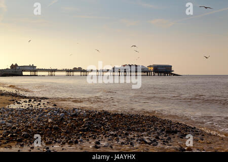 Cromer Pier on the North Norfolk coast England UK built in 1902 - Stock Photo
