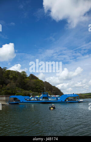 King Harry Ferry on the river Fal, Cornwall - Stock Photo