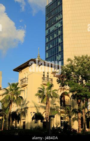 Israel, Tel Aviv, the former Russian Embassy house on Rothschild boulevard - Stock Photo