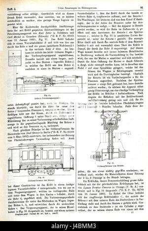 R. Fiedler, Ueber Neuerungen im Heizungswesen. In, C. Engler, A. Hollenberg u. H. Kast (Hrsgg.), Dinglers Polytechnisches - Stock Photo