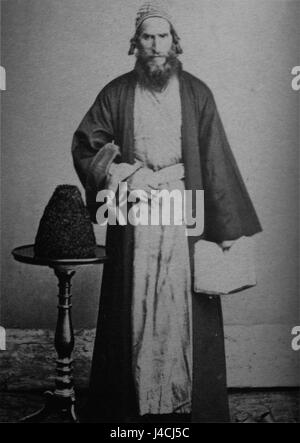 Rabbin, a Jew from Imereti (Ermakov) BW - Stock Photo