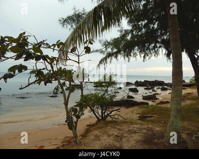 Mango Bay Resort in the North of Phu Quoc Island in the tropical South of Vietnam  - sunset on the beach | usage - Stock Photo