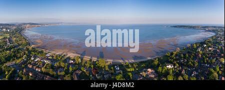 Swansea Bay panoramic - Stock Photo