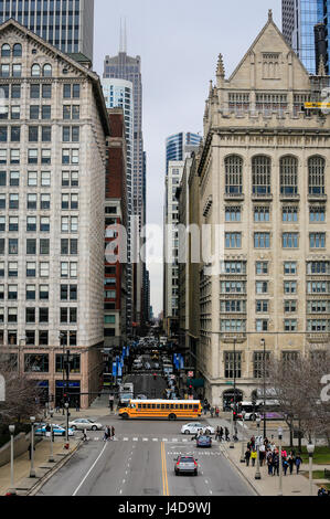 Cityscape, The Loop, City, Chicago, Illinois, USA, North America, Stadtansicht, The Loop, City, Chicago, Illinois, - Stock Photo