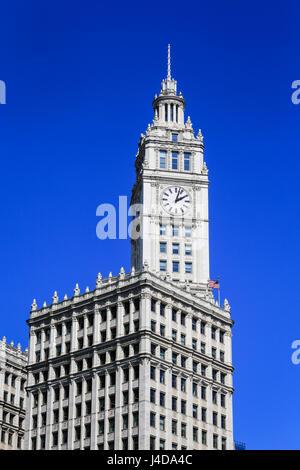 Wrigley Building, Chicago, Illinois, USA, North America, Wrigley Building, Chicago, Illinois, USA, Nordamerika - Stock Photo
