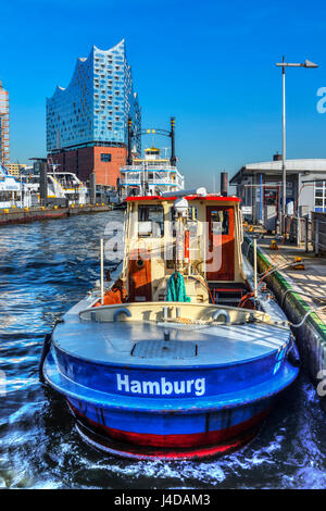 The Elbphilharmonie in the harbour of Hamburg, Germany, Europe, Die Elbphilharmonie im Hafen von Hamburg, Deutschland, - Stock Photo