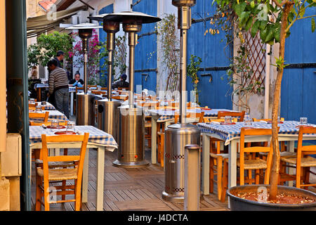 Traditional tavern in 'Laiki Geitonia' , the old part of Larnaca town, Cyprus island. - Stock Photo