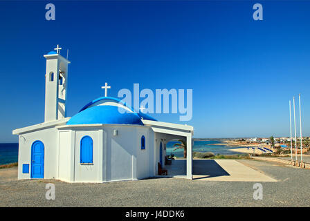 Agia Thekla church, close to Ayia Napa, Ammochostos (Famagusta) district, Cyprus. In the background you can see - Stock Photo
