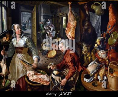 The Four Elements: Fire 1570 Joachim Beuckelaer 1533–1574 Antwerp Flemish Belgium Belgian ( Fire is one of Beuckelaer's - Stock Photo