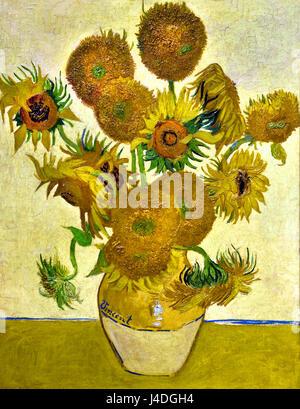 Sunflowers 1888 Vincent van Gogh 1853– 1890 Dutch The Netherlands - Stock Photo