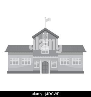 School icon, gray monochrome style - Stock Photo