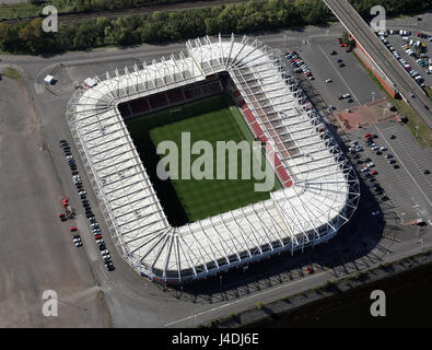 aerial view of Middlesbrough FC Riverside Stadium - Stock Photo