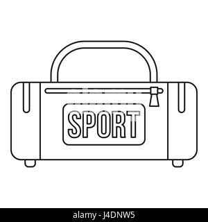 Sports bag icon, outline style - Stock Photo