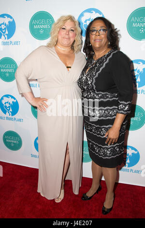 Beverly Hills, California, USA. 11th May, 2017. Award honorees Jan Perry and Karla Keene attending the 4th Annual - Stock Photo