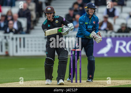 London, UK. 12th May, 2017.  Jason Roy batting for Surrey. Surrey v Kent in the Royal London One-Day Cup at the - Stock Photo