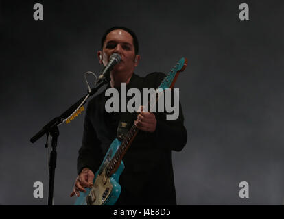 Calvia, Mallorca, Spain. May 12th, 2017. British band Placebo performs live during Mallorca Live Festival in the - Stock Photo
