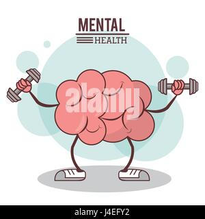 mental health concept. brain training exercise healthy image - Stock Photo