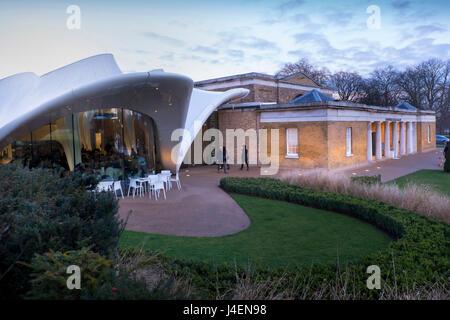 Serpentine Sackler Gallery and Magazine Restaurant, Kensington Gardens, Hyde Park, London, England, United Kingdom, - Stock Photo