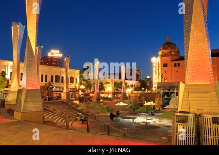 Horton Plaza Park, Gaslamp Quarter, San Diego, California, United States of America, North America - Stock Photo