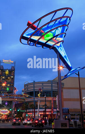 Fremont East District, Las Vegas, Nevada, United States of America, North America - Stock Photo
