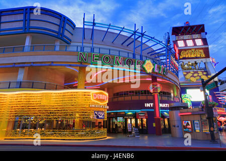 Neonopolis, Fremont Street, Las Vegas, Nevada, United States of America, North America - Stock Photo