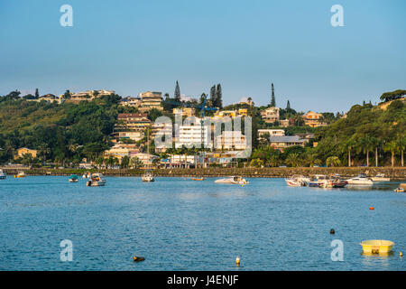 Little boats in the Magenta Port Sud, bay, Noumea, New Caledonia, Pacific - Stock Photo