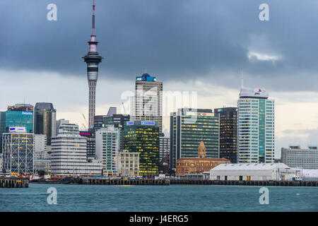 The skyline of Auckland, North Island, New Zealand, Pacific - Stock Photo