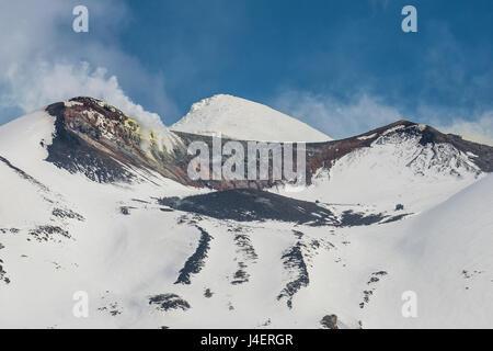 Snow capped mountains in the Daisetsuzan National Park, UNESCO World Heritage Site, Hokkaido, Japan, Asia - Stock Photo