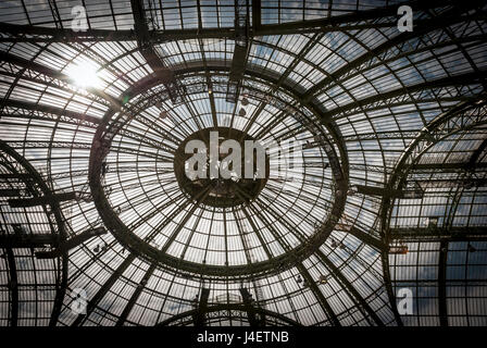 Ceiling structure of Grand Palais in Paris - Stock Photo