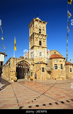 The church of Saint Lazarus ('Agios Lazaros') in the old part of Larnaca town, Cyprus - Stock Photo