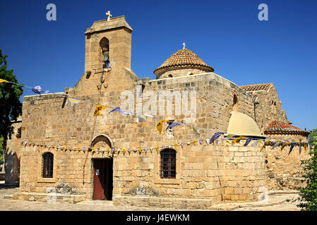 Panagia Angeloktisti ('Panagia Built by Angels') , a Byzantine church located in the village of Kiti, close to Larnaca - Stock Photo