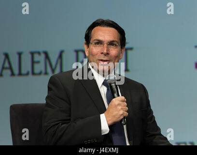 New York, NY USA - May 7, 2017: Israel Ambassador to the UN Danny Danon speaks at 6th Annual Jerusalem Post conference - Stock Photo