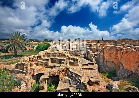 Tombs of the Kings (UNESCO World Heritage Site), Paphos, Cyprus. Paphos town is one of the 2 European Capitals of - Stock Photo