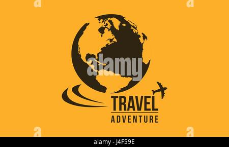 Travel in the world icon collection - Stock Photo