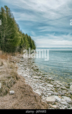 Photographed in Whitefish Dunes State Park in Sturgeon Bay, Wisconsin. - Stock Photo