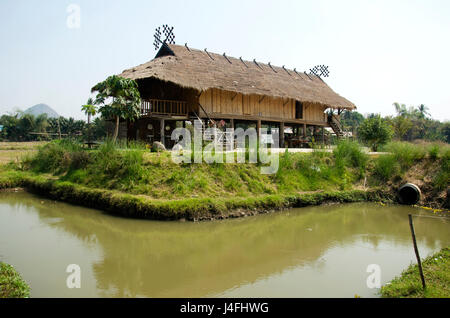 Tai Dam ethnic museum house for thai people and foreigner traveler visit and learning culture tai dam ethnic people - Stock Photo