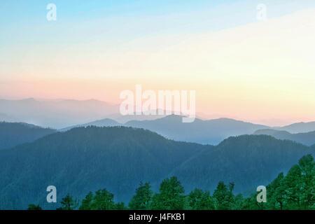 Mountain layers of Himachal Pradesh, India, Asia. - Stock Photo