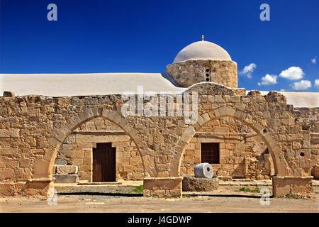 The byzantine church of Panagia Katholiki next to the archaeological site of Palaipaphos, at Kouklia village, Paphos - Stock Photo