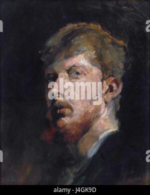 Self portrait, by George Hendrik Breitner - Stock Photo