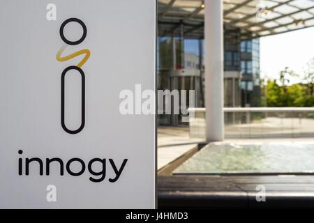 Germany: Headquarters of the German electric utilities company Innogy SE (RWE) in Essen. Photo from 30. April 2017. - Stock Photo
