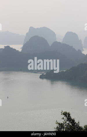 View across Ha Long Bay, Vietnam - Stock Photo