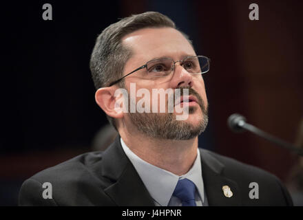 U.S. Immigration and Customs Enforcement Special Agent in Charge Clark Settles testifies during the House Homeland - Stock Photo