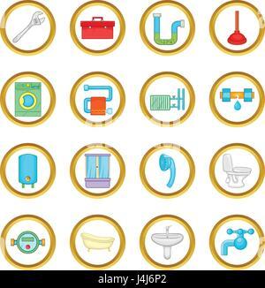 Vector Illustration Of Cartoon Toilet Stock Vector Art
