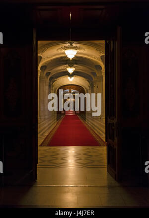 Stock Photo - Interior of the Palace of the Parliament in Bucharest, the capital of Romania - Stock Photo
